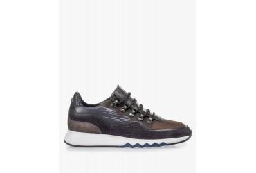 Floris Van Bommel Sneaker Bruin Combinatie