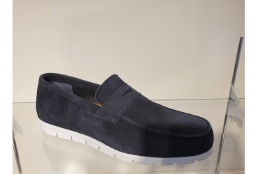 Passi Loafer Suede Blauw