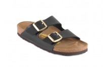 Birkenstock Arizona Slipper 2 Gespen Zwart