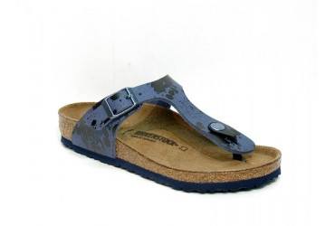 Birkenstock Slipper Gizeh Kids Blauw Metallic
