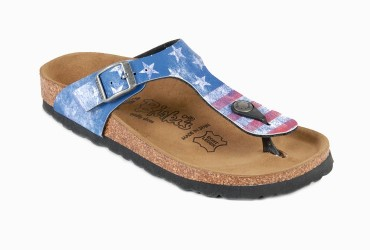 Birkenstock Gizeh Stars and Stripes Blauw Combinatie