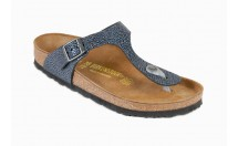 Birkenstock Gizeh Slipper Metallic Antraciet