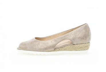 Gabor Instap Sleehak Open Teen Taupe Metallic
