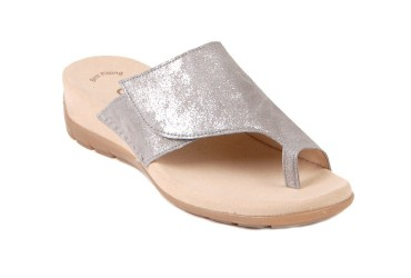 Gabor Slipper Taupe Metallic