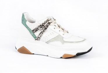 Piedi Nudi Sneaker Dikke Zool Wit Combinatie