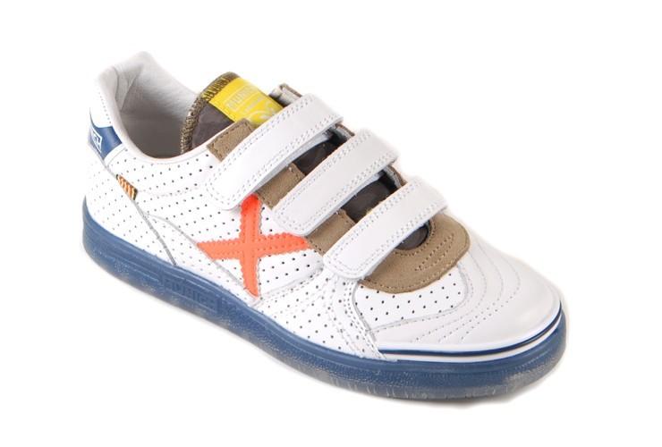 c956ae229b2 Munich Klittenband Sneaker Sport Wit Jongens | Huisman Schoenmode