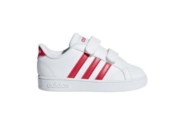 Adidas BASELINE CMF INF FTWWHT/ACTPNK/CBL - FTWWHT/ACTPNK/CBLACK