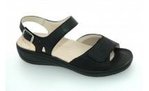 Fidelio Sandaal F 1/2 Klittenband Zwart Combinatie