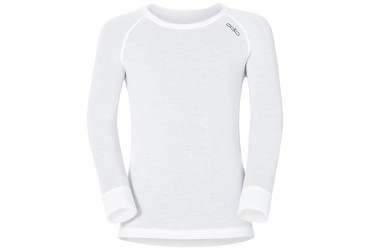 Odlo Shirt l/s crew neck WARM KIDS 10000 - 10000 - white