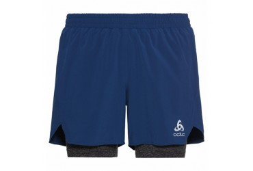 Odlo 2 in 1 Short He Blauw
