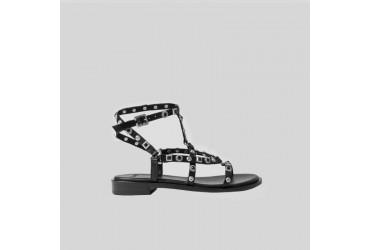 Bronx Sandaal Bandjes Zwart Combinatie
